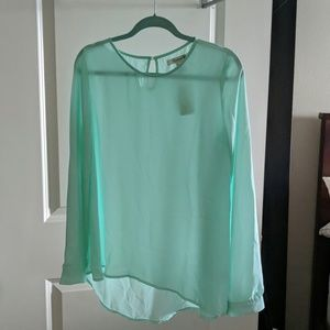 Mint colored woven top BNWT